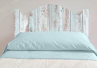 Cabecero Cama PVC Impresión Digital Imitacion Madera Marron | 100 x 60 cm | Disponible en Varias Medidas | Cabecero Ligero, Elegante, Resistente y Económico