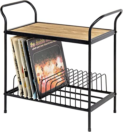MyGift 2-Tier Turntable Stand