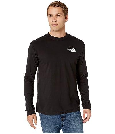 The North Face Long Sleeve Red Box T-Shirt (TNF Black/Asphalt Grey) Men