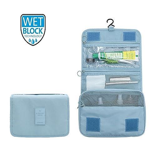 Hanging Travel Toiletry Bag Nylon Portable Makeup Comestic Organiser  Folding Travel Wash Bag with Detachable Clear e1e88a24bba51