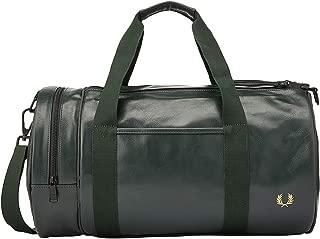 Men's Tonal Pu Barrel Bag, Dark Green, One Size