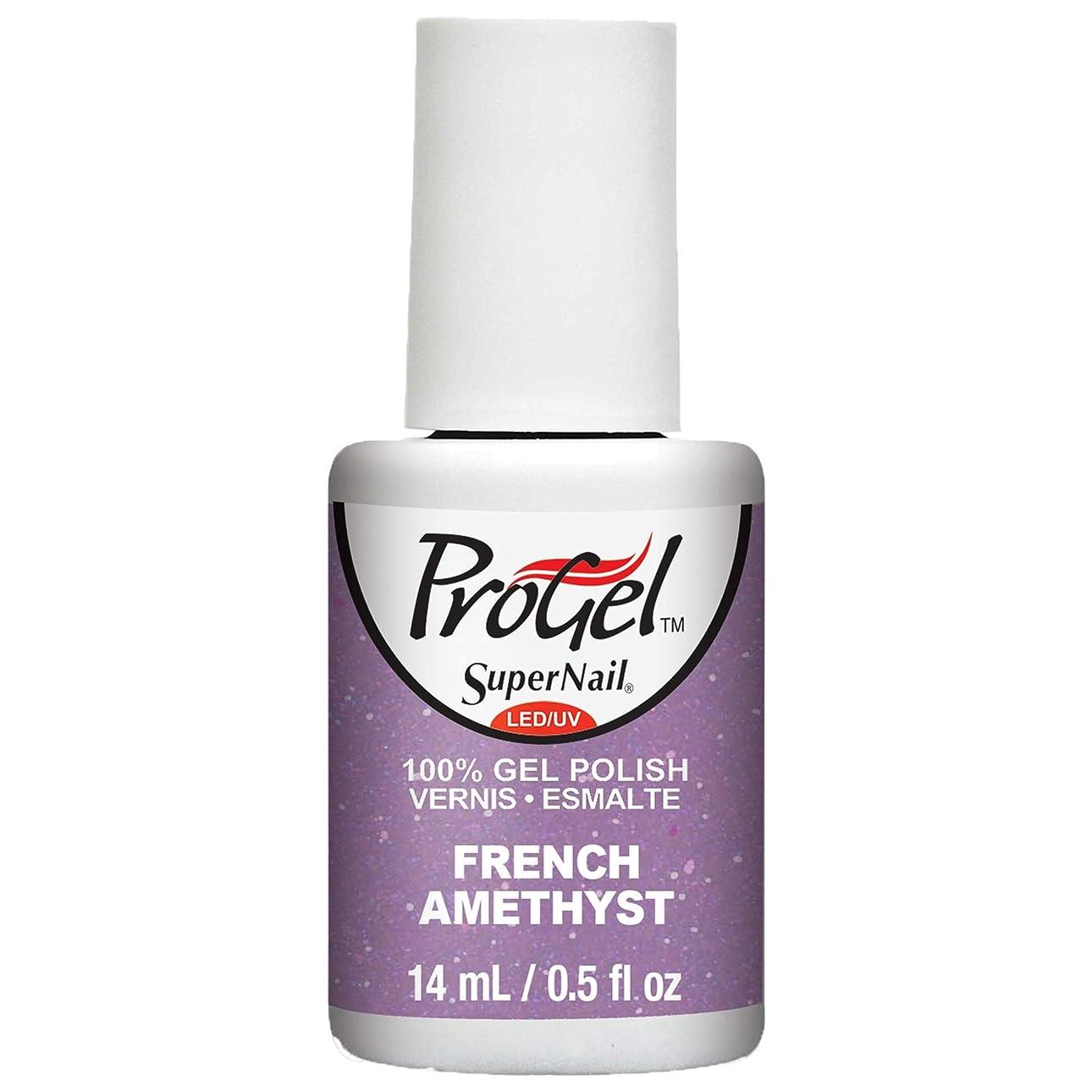 簡潔な扱いやすい克服するSuperNail ProGel Gel Polish - French Amethyst - 0.5oz / 14ml