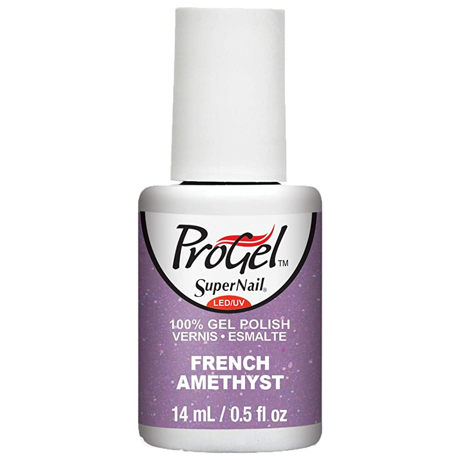 ログサスペンション運動するSuperNail ProGel Gel Polish - French Amethyst - 0.5oz / 14ml