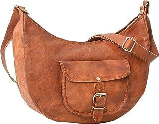 Gusti Umhängetasche Leder - Mira Handtasche Ledertasche Damentasche Vintage Braun Leder