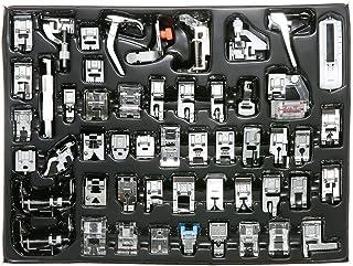 Decdeal - Kit de 52 Piezas Multifuncional Prensatelas Accesorios para Máquina de Coser Presser Feet (Compatible para Caña ...