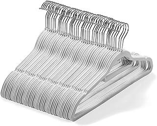 Lot de 50 cintres en Velours (45cm) – Cintres antidérapants de qualité supérieure avec Barre à Cravate et Crochet Rotatif ...