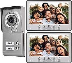 Timbre con Video 7ins, Sistema de intercomunicación con videoportero inalámbrico, Timbre Impermeable montado en la Pared, ...