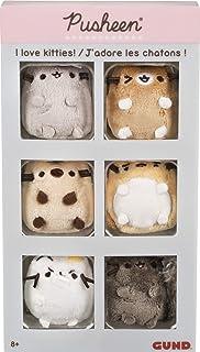 "GUND Pusheen Comic Collector I Love Kitties Set of 6 Plush Stuffed Animal Cats, 2"""