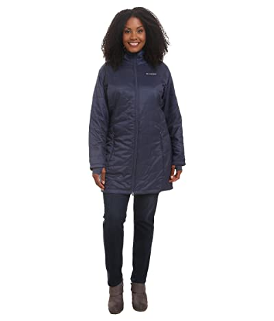 Columbia Plus Size Mighty Litetm Hooded Jacket (Nocturnal) Women