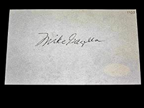 Mike Gazella 1927 Murderers Row New York Yankees Signed Auto Index Card - JSA Certified - MLB Cut Signatures