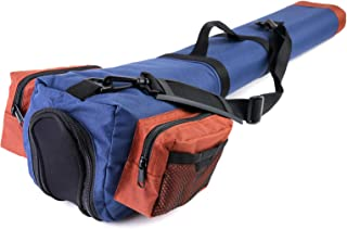 M MAXIMUMCATCH Maxcatch Fly Fishing Rod Case with Reel Pouch, Complete Rod Protection Bag, 9'/10' 4pc