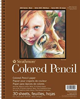 "Strathmore STRATHMORE Colored Pencil PAD 9X12 30SHT 400 Series, 477-9, Multicolor, 9""x12"""