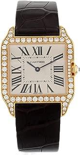 Cartier Santos Dumont WH100351 Factory Diamond 18K Rose Gold Quartz Ladies Watch