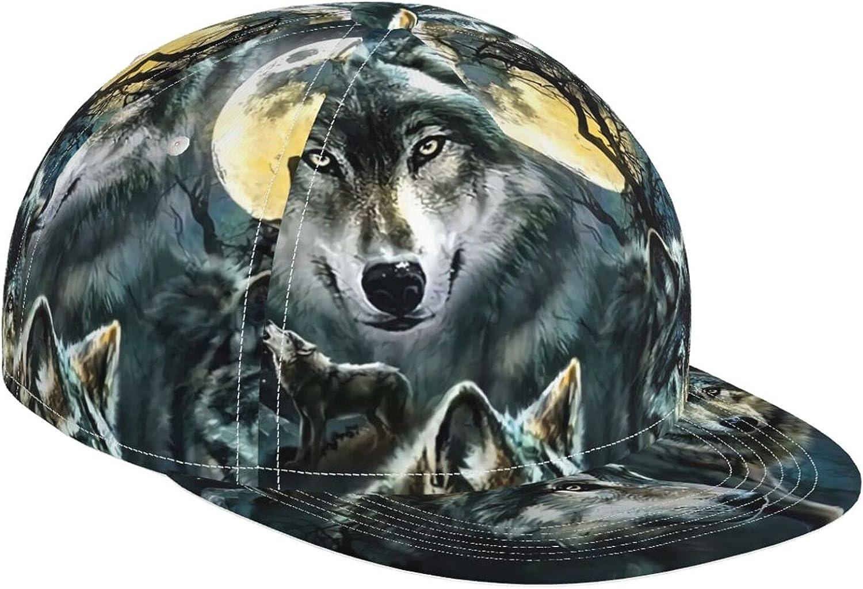 Fantasy Direct Wolf Cheap SALE Start Moon Call Baseball Charlotte Mall Adjustabl Popular Hat Cap