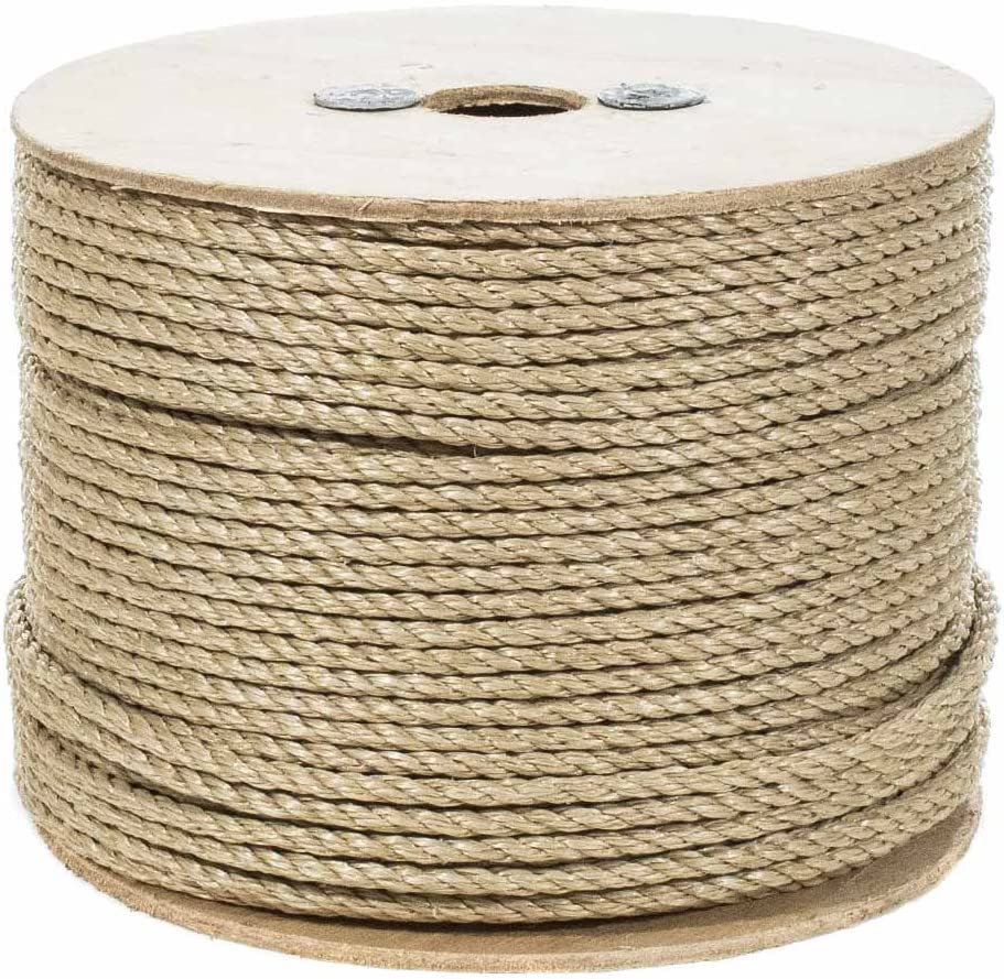 Crafts and Landscaping All Purpose ProManila Cord for Decor 5//8 Inch x 25 Feet Sporting UnManila Polypropylene Rope Cordage Tug of War Rope