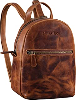 STILORD 'Lola' Mini Daypack Damen Lederrucksack Cityrucksack Kleiner Tagesrucksack Rucksack Tasche für Frauen XS Stadtruck...