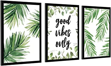 Natuurlijke Plant Groen Blad Poster Muur Art Home Keuken Woonkamer Decoratie Canvas Frame-style1 32×48 inch (80×120cm)
