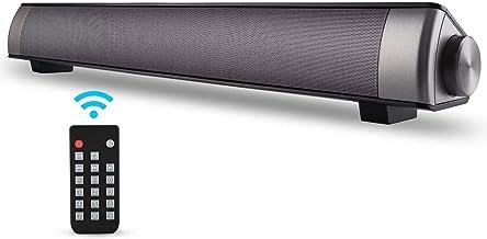 [New 2019 Upgraded] ASIYUN 2 X 5W Mini Bluetooth Sound Bar, Wired and Wireless Home..
