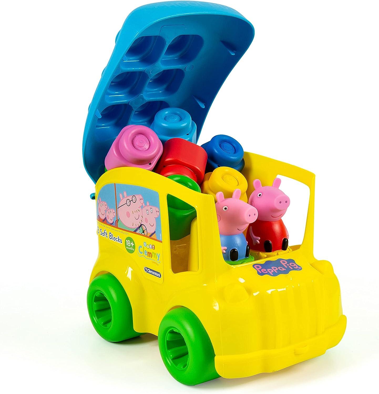 Clementoni-17248 - Clemmy Baby Autobus Peppa Pig - construcciones blanditas para bebé a partir de 18 meses