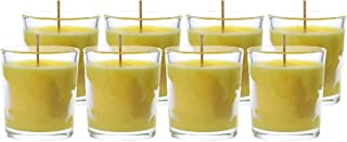 CandleNScent Citronella Scented Votive Candles in Glass | Up to 20 Hour Burn Time (Pack of 8)