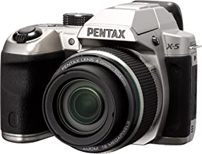 Pentax X-5 silver 16 Digital Camera with 26x Optical Image Stabilized Zoom with 3-Inch LCD (Silver)