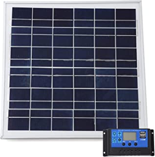 [スプレンノ] ソーラーパネル 20W ソーラーチャージャー コントローラー セット 10A 12V 24V