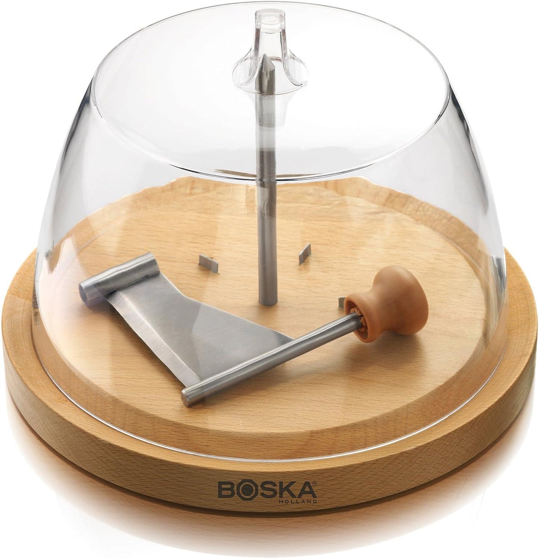 Boska Holland European Beech Wood Cheese Curler Geneva with Dome - Explore Collection