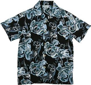 (スタイルド バイ オリジナルズ)Styled by Originals 龍波 水飛沫 半袖 和柄 レーヨン100% アロハシャツ