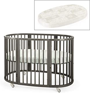 Stokke Sleepi Crib and Matress Bundle, Hazy Grey