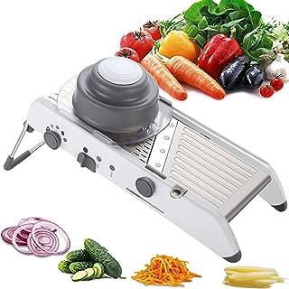Joho Mandoline Slicer Vegetable Cutter Grater Chopper Julienne Slicer,Adjustable Slicer Professional Grater with Stainless Steel Blades