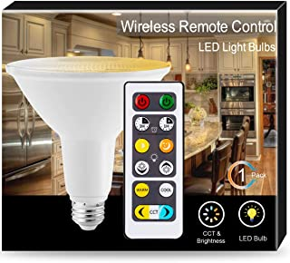 JandCase PAR38 Tunable LED Bulbs with Remote Control, 15W(120W Equivalent), Warm