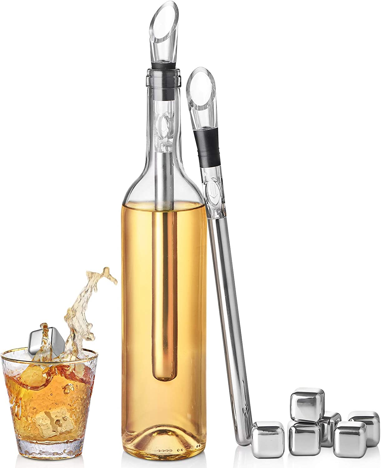 Wine Chiller 3-in-1 Stainless Steel Translated safety Stick Cooler wi Bottle