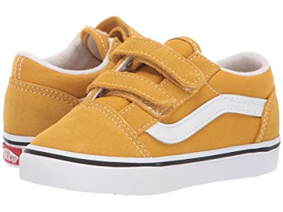 Vans Kids Old Skool V (Infant/Toddler) (Arrowwood/True White) Boy