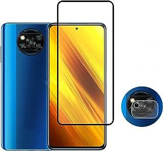 Qiqibh X-IAOMI POCO X 3 NFCガラスフィルムのためのフルカバー強化ガラスX-IAOMI POCO X 3のためのX-IAOMI POCO X 3 NFCガラスフィルムのための保護フィルム (Color : For Poc...