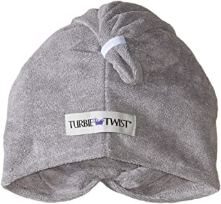 Turbie Twist Microfiber Hair Towel Wrap [2 Pack] – The Original Microfiber Hair Wrap As Seen On TV! Solid -Gray and Blue Hair Turban Towel Wraps Plopping Towel for Long and Curly Hair by Turbie Twist