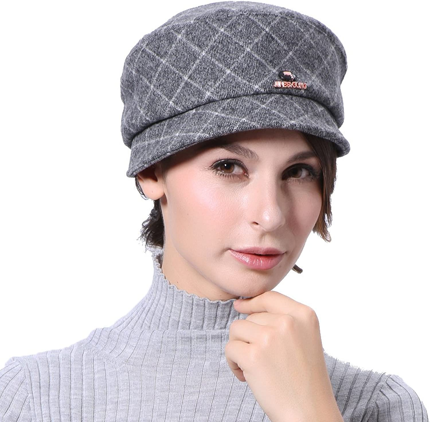 June's Young Women Hats Fashion Style Special Design Grey color Fedoras