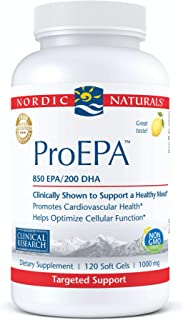 Nordic Naturals ProEPA, Lemon - 120 Soft Gels - 1210 mg Omega-3 - 60 Servings