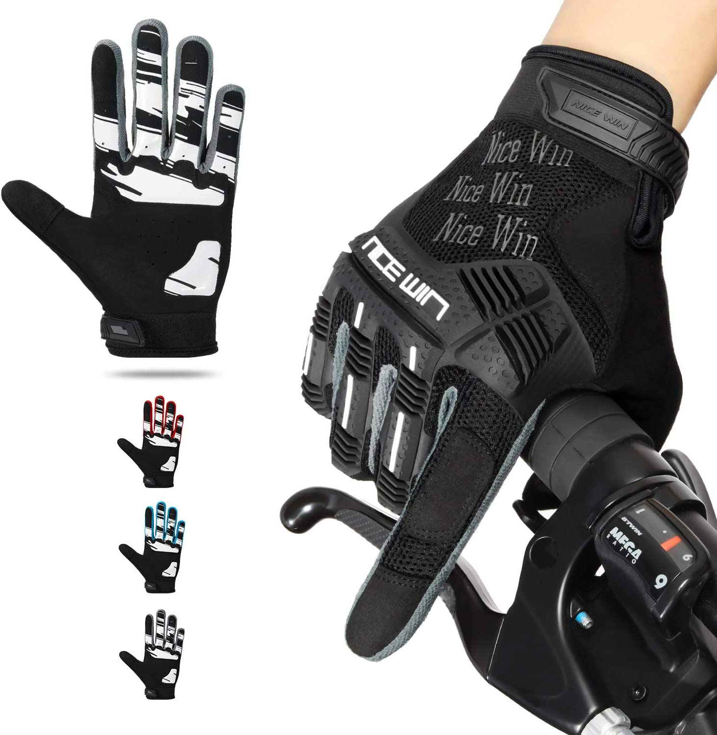NICEWIN Cycling Gloves Max 52% OFF for Men Finger Anti-Sl Full Riding Max 59% OFF