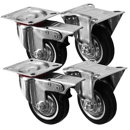 Lot de 10 en plastique rigide ROUES ROULETTES FIXE 15 mm armoire tiroirs//meubles