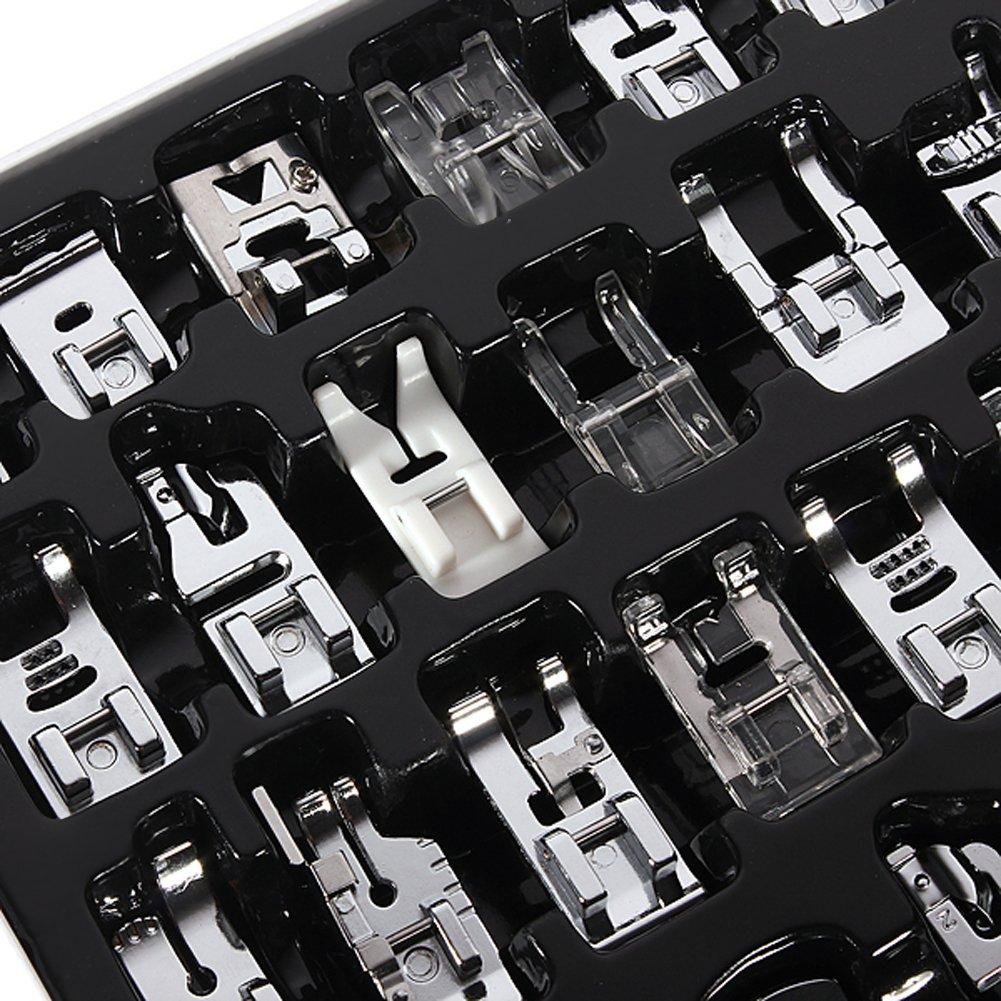 OBEST NIU Kit de 32pcs Multifuncional Prensatelas Accesorios para ...
