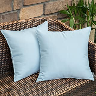 MIULEE Pack of 2 Decorative Outdoor Waterproof Pillow Cover Square Garden Cushion Case PU Coating Throw Pillow Cover Shell...