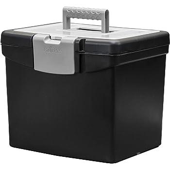 Storex File Storage Box Translucent Storage Lid, Black, Model Number: 61504A01C