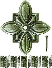 FUXXER® - 50 x antieke decoratieve nagels, sierkopnagels, meubelnagels, vintage messing brons antieke look, bloem, 30 x 27...
