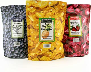 Trader Joe's Freeze Dried Fruit Assortment (Blueberries, Strawberries,Pineapple)