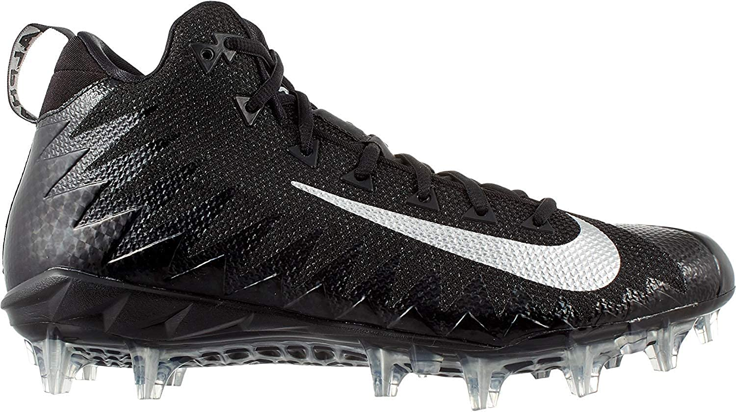 12, Football Mid Pro Menace Alpha Mens NIKE schwarz Cleats