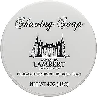 Maison Lambert Shaving Soap - Shaving Soap - Shave Soap - Organic Shaving Soap - with Argan Oil and Jojoba Oil to Protect Your Skin! 4 Oz (Cedarwood)