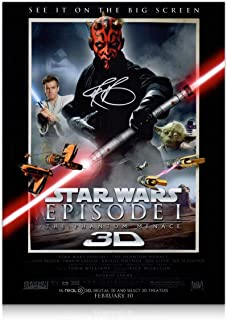 Darth Maul Signed Star Wars Poster: The Phantom Menace | Autographed Memorabilia