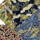 ASNOMY 5 piezas Japonés Tela de algodón para manualidades, Telas Patchwork de...