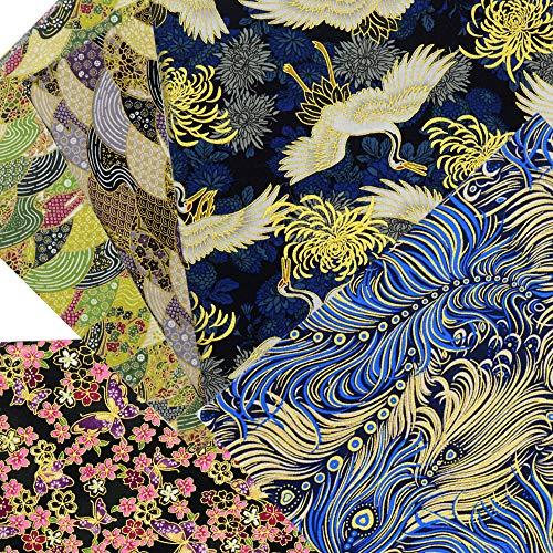 ASNOMY 5 piezas Japonés Tela de algodón para manualidades, Telas Patchwork de Algodón para Tejido Costura Pelusas DIY Artcraft Trabajo Álbumes de Recortes, 50 cm x 50 cm (Gris)