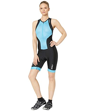 2XU Perform Front Zip Trisuit (Black/Aquarius Mesh) Women